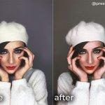 Red lips Paris — мобильный портретный пресет