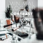 Minimal Blogger contrast пресет